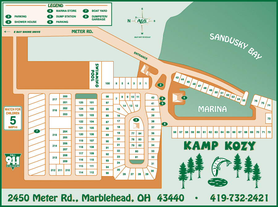 Kamp Kozy Map